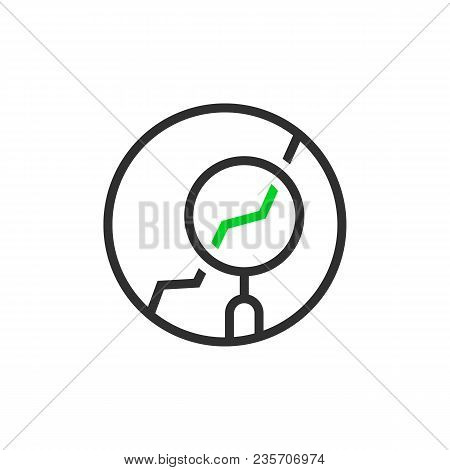 Thin Line Round Simple Analytics Logo. Unique Flat Style Trend Logotype Graphic Simple Design Isolat