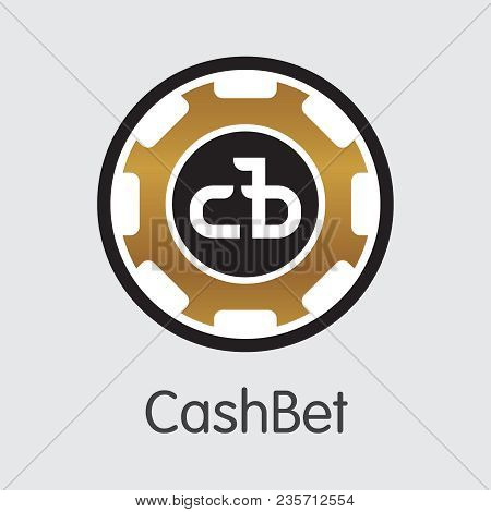 Cashbet Vector Pictogram Symbol For Internet Money. Cryptographic Currency Element Of Cbc And Pictog