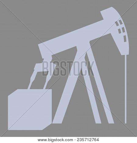 Flat Icon On Theme Arabic Business Oil Derrick
