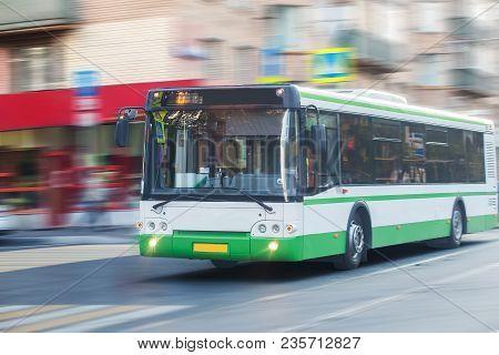White City Bus Goes Along Street Photo