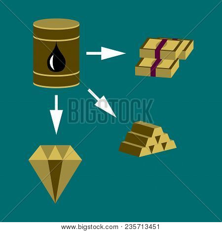 Flat Icon On Theme Arabic Business Oil And Money