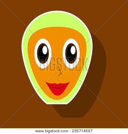 Realistic Paper Sticker On Theme Arabic Business Arabic Woman Smiling