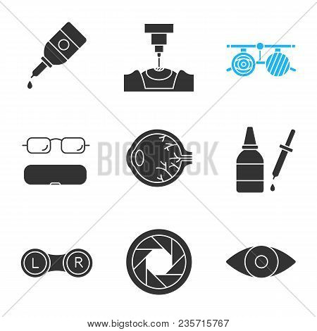 f52ab8e8451 Ophtalmology Glyph Vector   Photo (Free Trial)