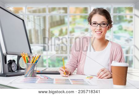 Graphic Working Designer Graphic Design Graphic Designer Home Office Digital Art
