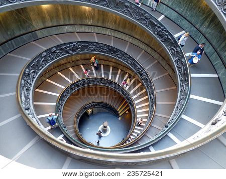 Famous Stairway Of The Vatican Museums Italy 09 20 2016