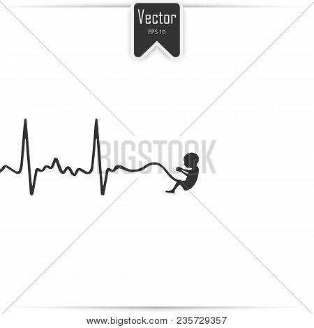 Embryo Phase Of Baby. Pregnancy Icon. Stock Vector Icon
