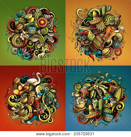 Latin America Cartoon Vector Vector Photo Bigstock