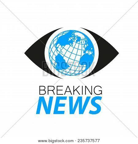 Breaking News Logo Template. Tv News Design. Vector Illustration.