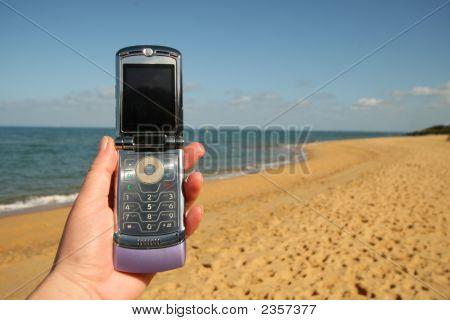 Téléphone de la plage