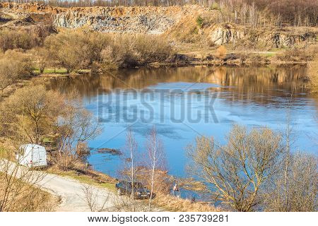 Fragment Of The Sluch River Near The Town Of Novograd-volynsky, Ukraine. It Attracts To Itself The I