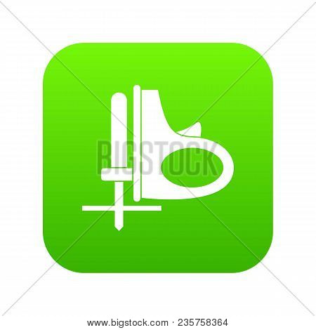 Cordless Reciprocating Saw Icon Digital Green For Any Design Isolated On White Vector Illustration