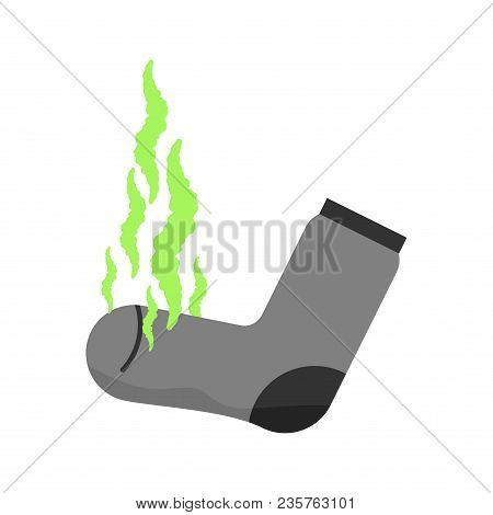 Dirty Sock. Unpleasant Smell. Stink. Green Fetid Cloud. Stinky Sock.