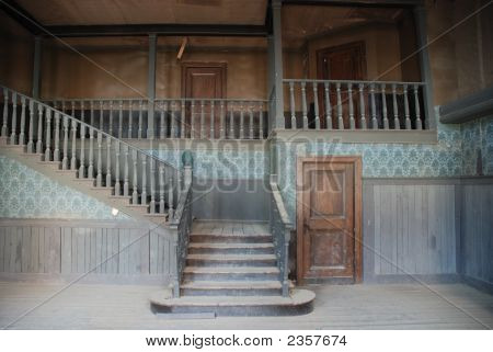 Interior Of An Abandoned Old  House