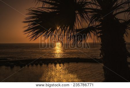 Golden Sunset Over Cyprus, Mediterranean Sea, Europe