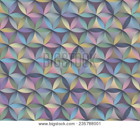 Flower Of Life Seamless Pattern In Pastel Colours