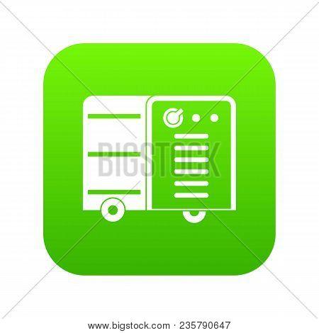 Inverter Welding Machine Icon Digital Green For Any Design Isolated On White Vector Illustration