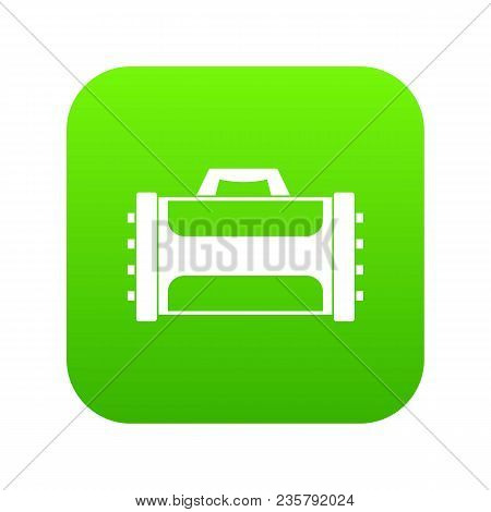 Welding Machine Icon Digital Green For Any Design Isolated On White Vector Illustration