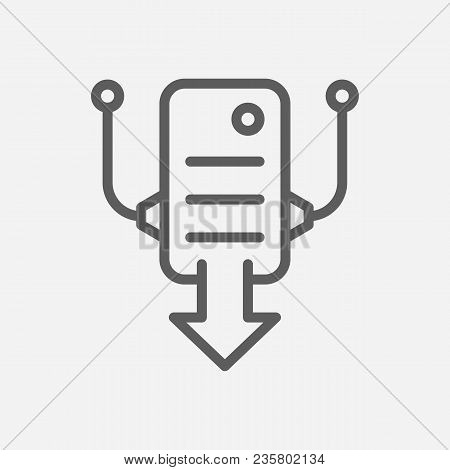 Hosting Icon Line Symbol. Isolated Vector Illustration Of  Icon Sign Concept For Your Web Site Mobil
