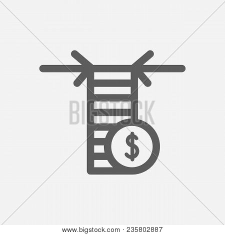 Limit Order Icon Line Symbol. Isolated Vector Illustration Of  Icon Sign Concept For Your Web Site M