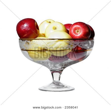 A Vase With Apples Isolated