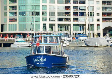 Vancouver - Nov 11, 2014: Vancouver Spirit Of False Creek 10 Ferry In False Creek In Downtown Vancou