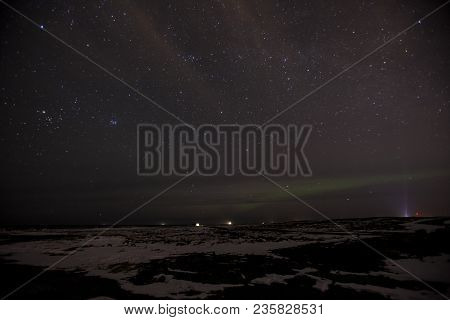 The Aurora Borealis As Seen From The Reykjanes Peninsula In Iceland