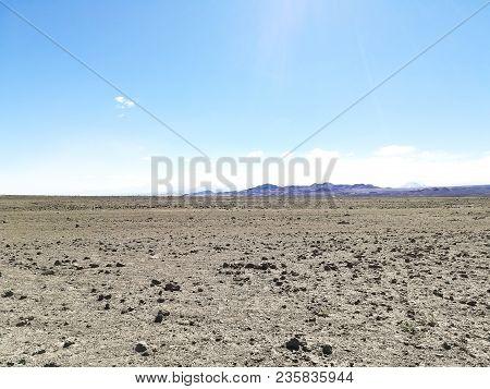 Road To Flamingo Natural Reserve, Chile.  San Pedro De Atacama, Los Flamencos National Reserve