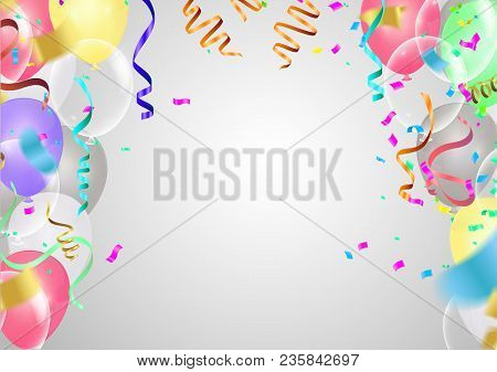 Balloons Frosted Party Balloons Event Design. Balloons Isolated In The Air. Party Decorations Weddin