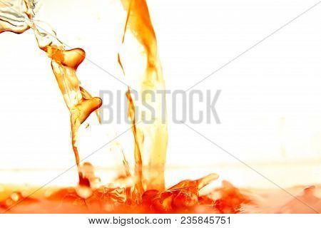 Orange Juice Background / Orange Juice Is The Liquid Extract Of The Fruit Of The Orange Tree, Produc
