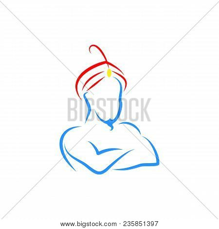 Genie Vector Illustration, Genie Symbol Icon Logo, Web And App
