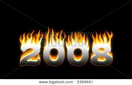 2008! Flaming 2008. New Year!