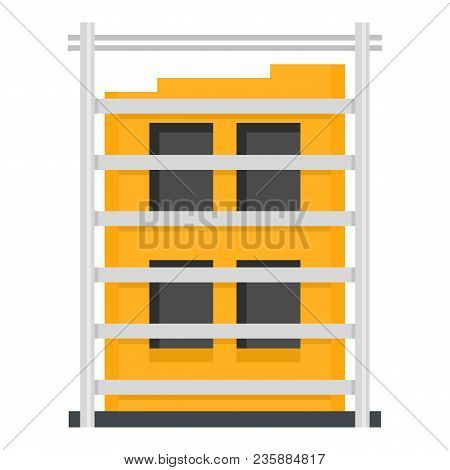 Building Structure Icon. Flat Illustration Of Building Structure Vector Icon For Web