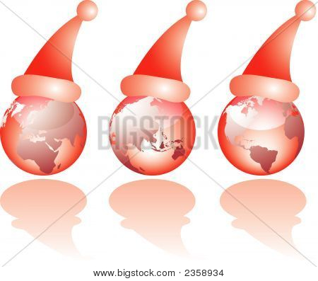 Three Christmas Glass World Views