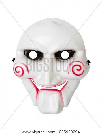 Maniac mask isolated on white background