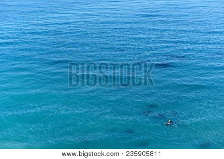 Background Of Blue Ocean Surface