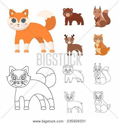 Zoo, Nature, Reserve And Other  Icon In Cartoon, Outline Style.artiodactyl, Nature, Ecology, Icons I