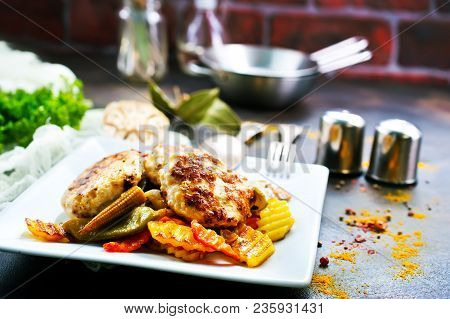 Vegetables With Cutlets