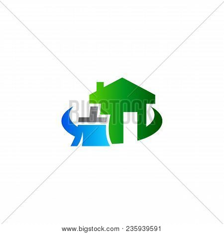 house cleaning logo vector photo free trial bigstock rh bigstockphoto com house cleaning logo design house cleaning logos free