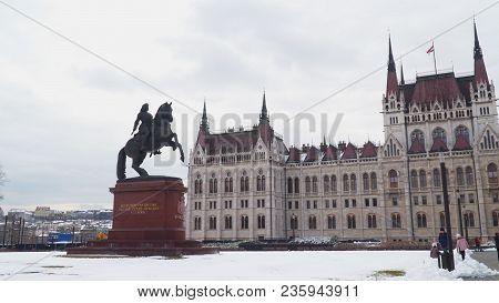 Budapest, Hungary - March 18, 2018: Monument To Prince Ferenc Ii Rakoczi