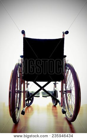 Medical Clinic For Rehabilitation With A Wheelchair With Backlight Effect