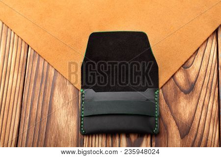 Dark Greenleather Wallet.genuine Leather Craft Object Using For Wallet.hand Crafted Wallet