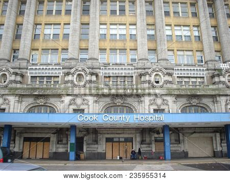 Front Entrance To The Former Cook County Hospital Building, Chicago, Il September 12, 2008