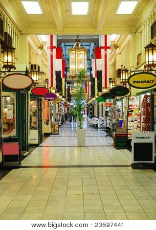 stylish shopping street