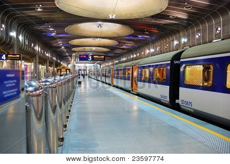 subway platform of Auckland Transport Center, New Zealand