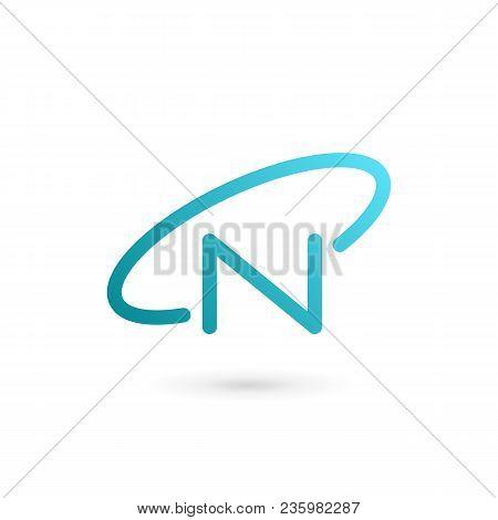 Letter N Orbit Logo Icon Design Template Elements