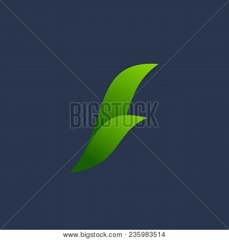 Letter F Eco Leaves Logo Icon Design Template Elements
