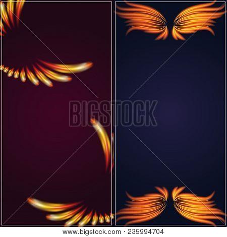 Flame Bird Fire Wings Banner Fantasy Feather Burning Blaze Fly Blazing Danger Flare Glow Fiery Burn