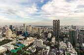 Metropolitan Bangkok City downtown cityscape urban skyline  Thailand in 2017 - Cityscape Bangkok city Thailand poster