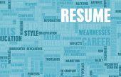 Job Resume of a Well Written CV Concept poster