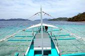 A Banca Boat in El Nido Palawan Philippines poster